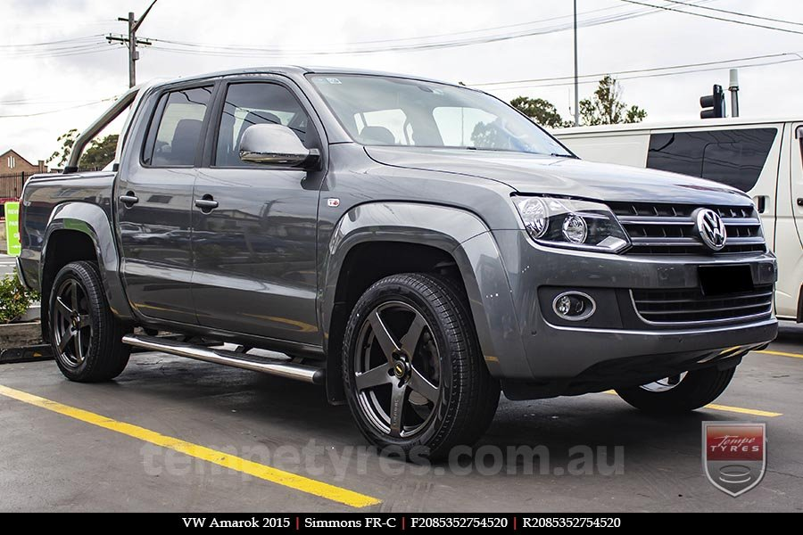 20x8.5 20x10 Simmons FR-C Hyper Dark NCT on VW AMAROK