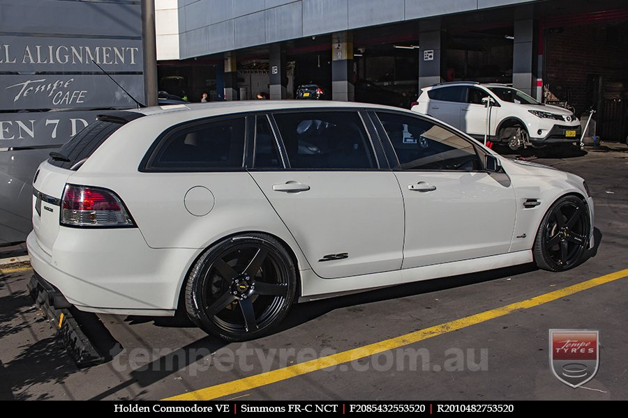 20x8.5 20x10 Simmons FR-C Hyper Dark NCT on HOLDEN COMMODORE VE