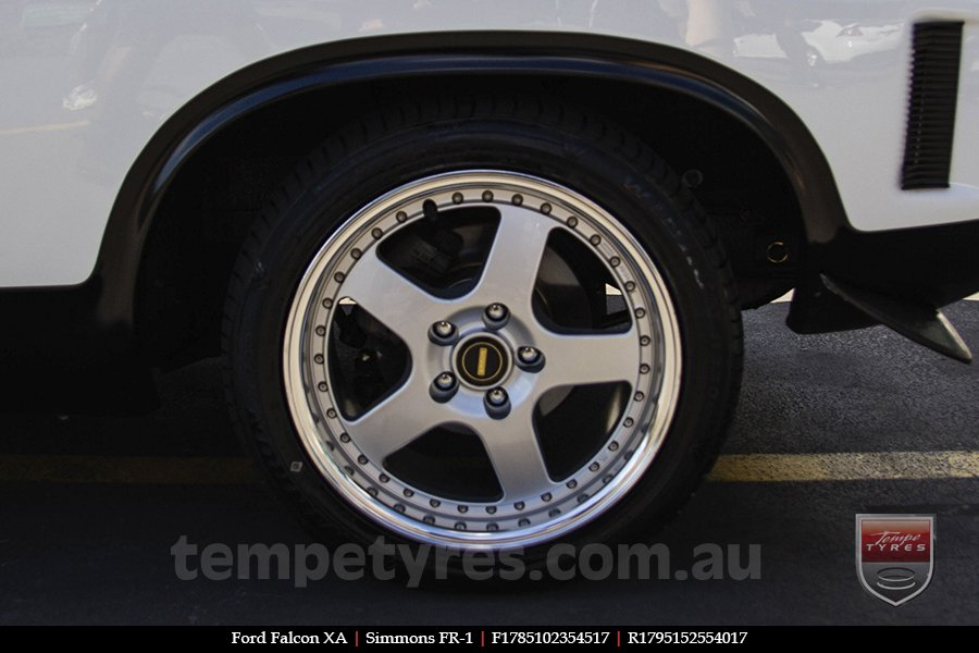 17x8.5 17x9.5 Simmons FR-1 Silver on FORD FALCON