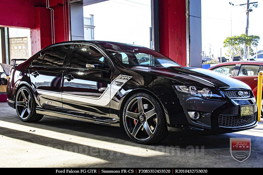 20x8.5 20x10 Simmons FR-CS Satin Black NCT  on FORD FALCON