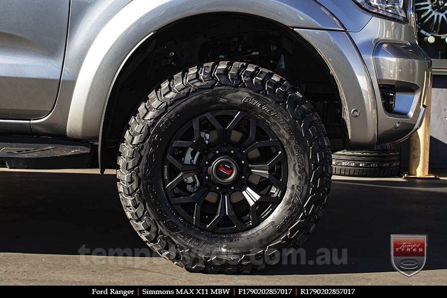 17x9.0 Simmons MAX X11 MBW on FORD RANGER