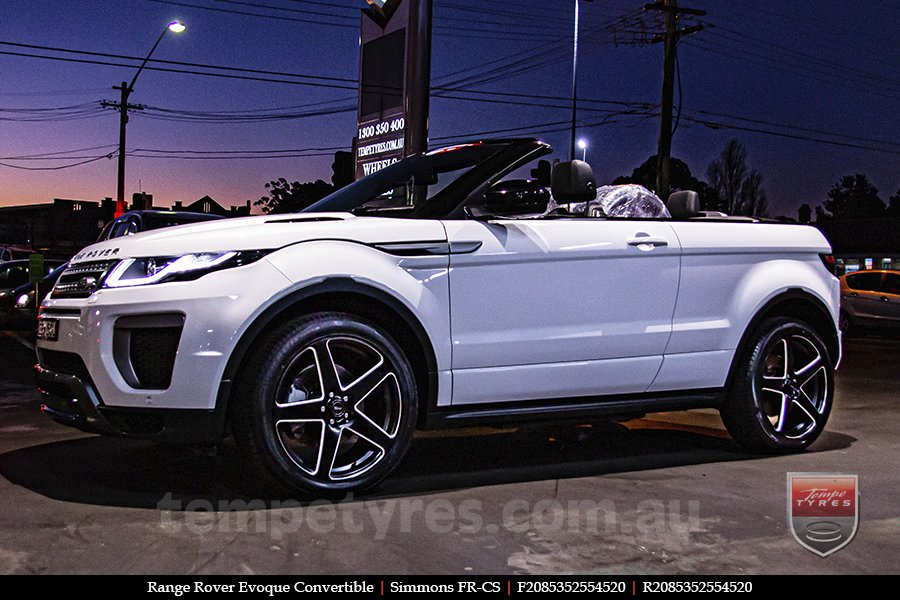 20x8.5 20x10 Simmons FR-CS Satin Black NCT  on RANGE ROVER EVOQUE