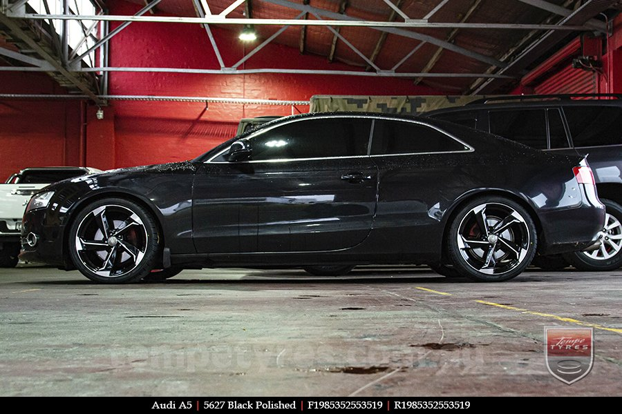 19x8.5 5627 Black Polished on AUDI A5