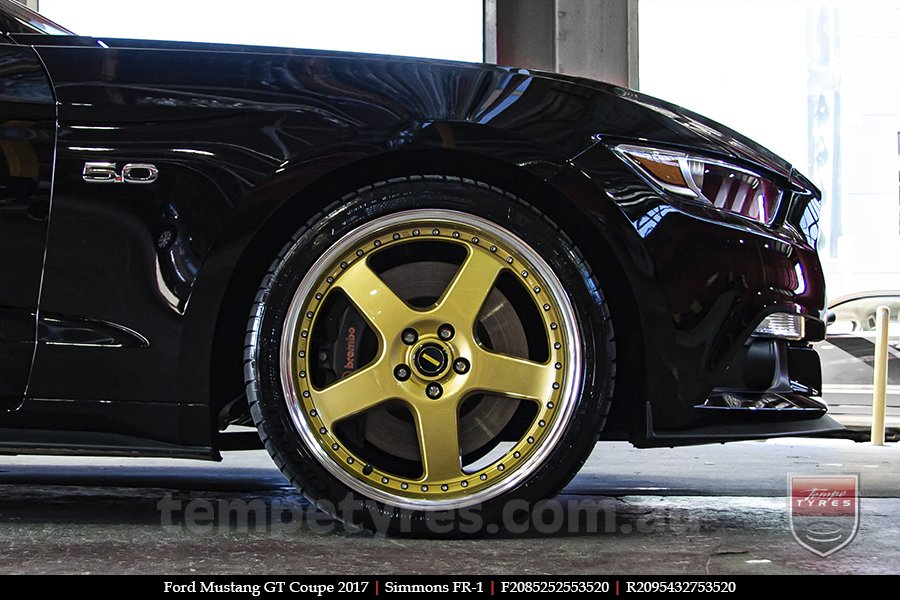20x8.5 20x9.5 Simmons FR-1 Gold on FORD MUSTANG