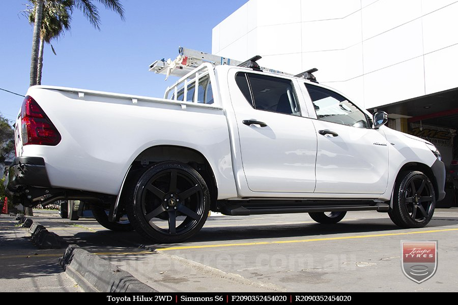 20x9.0 Simmons S6 Matte Black NCT on TOYOTA HILUX 2WD