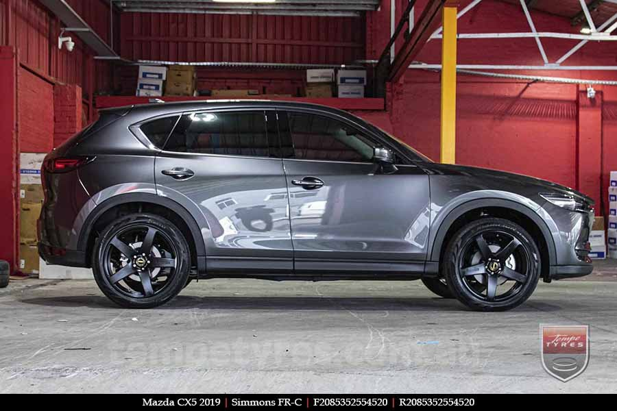 20x8.5 20x10 Simmons FR-C Satin Black NCT on MAZDA CX5