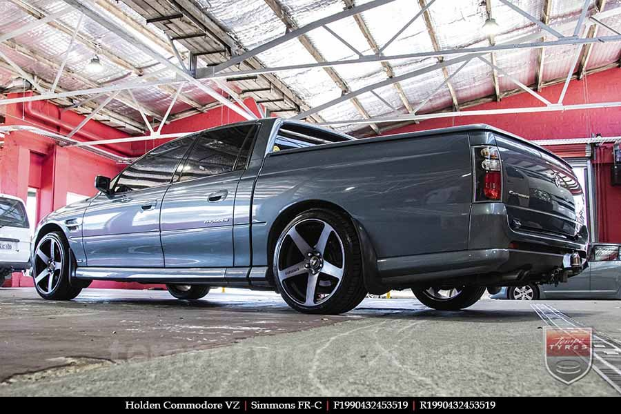 19x8.0 19x9.0 Simmons FR-C Black Tint NCT on HOLDEN COMMODORE VZ