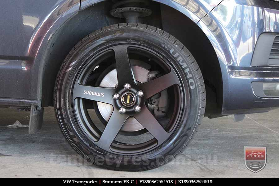 18x8.0 18x9.0 Simmons FR-C Matte Black NCT on VW TRANSPORTER