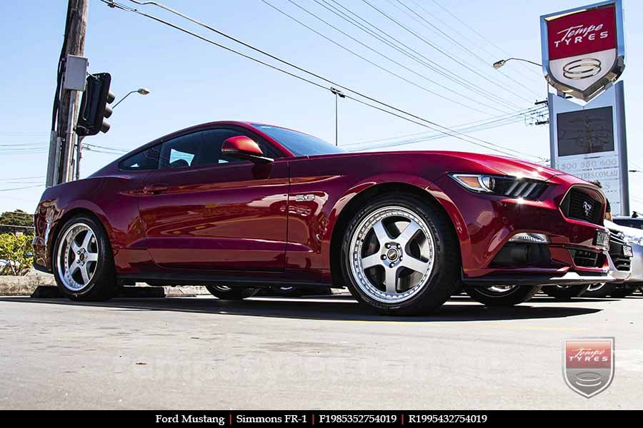 19x8.5 19x9.5 Simmons FR-1 Silver on FORD MUSTANG
