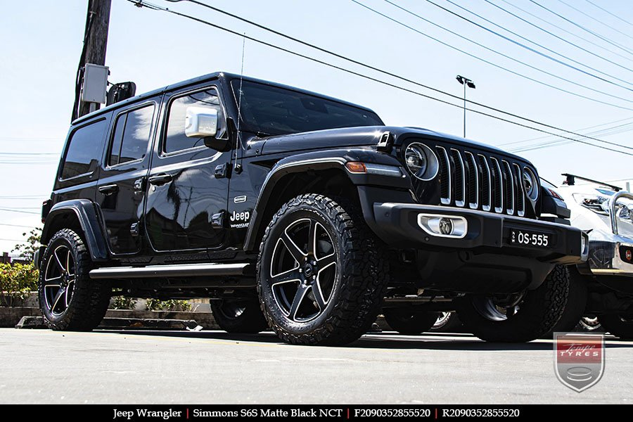 20x9.0 Simmons S6S Matte Black NCT on JEEP WRANGLER