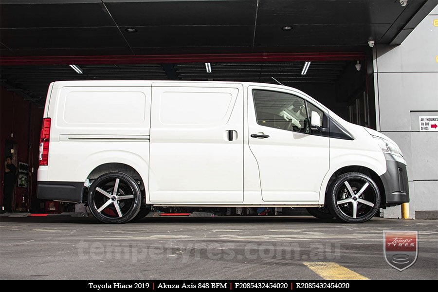 20x8.5 Akuza Axis 848 BFM on TOYOTA HIACE
