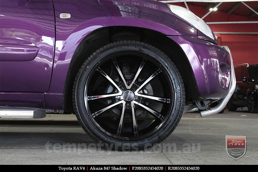 20x8.5 Akuza 847 Shadow on TOYOTA RAV4