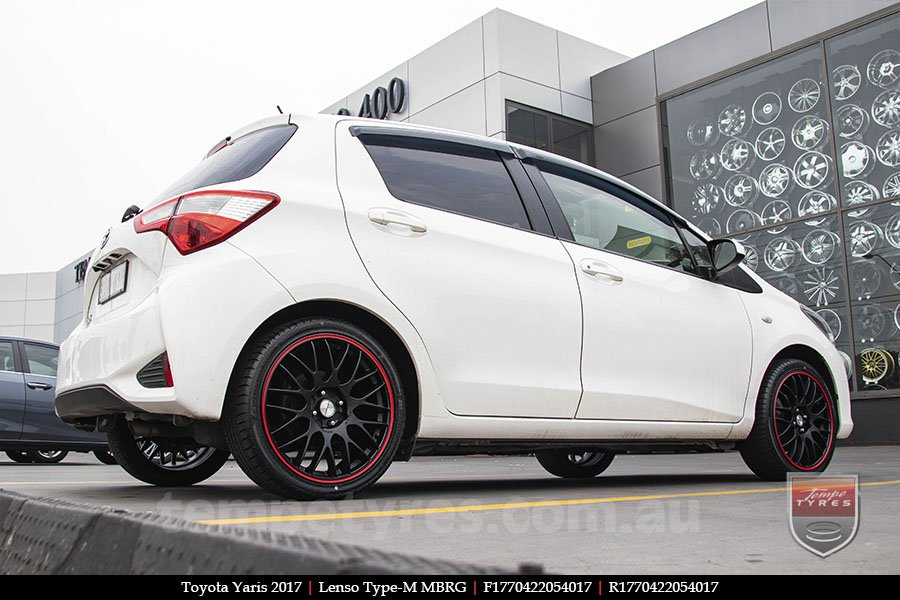 17x7.0 Lenso Type-M - MBRG on TOYOTA YARIS