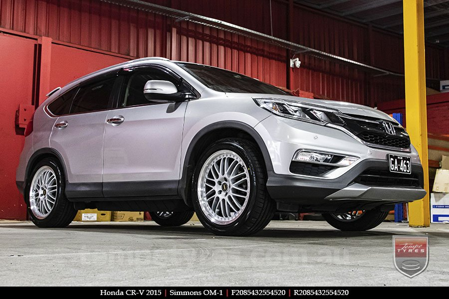 20x8.5 20x9.5 Simmons OM-1 Silver on HONDA CRV
