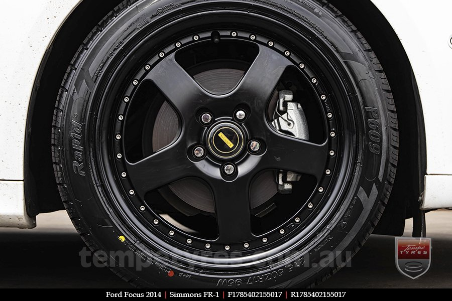 17x7.0 17x8.5 Simmons FR-1 Satin Black on FORD FOCUS