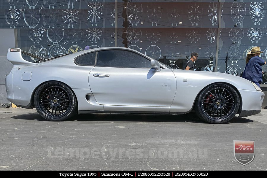 20x8.5 20x9.5 Simmons OM-1 Flat Black on TOYOTA SUPRA