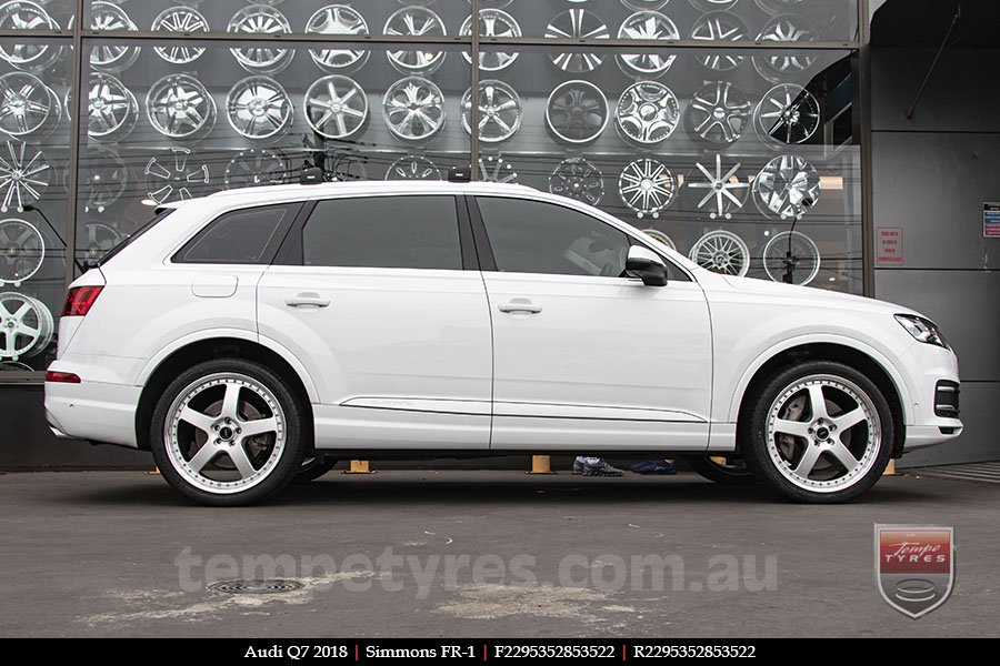 22x8.5 22x9.5 Simmons FR-1 Silver on AUDI Q7