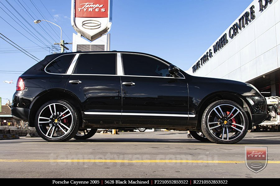 22x10 5628 Black Machined on PORSCHE CAYENNE