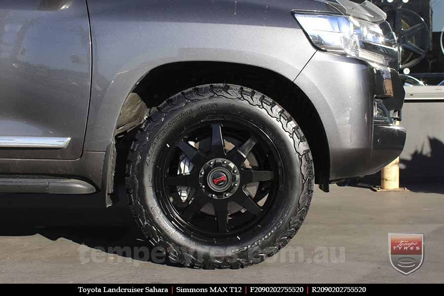 20x9.0 Simmons MAX T12 MK on TOYOTA LANDCRUISER SAHARA