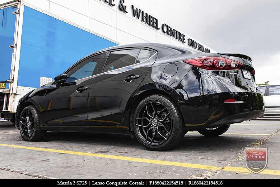 18x8.0 Lenso Conquista Corsair CQC on MAZDA 3 SP25