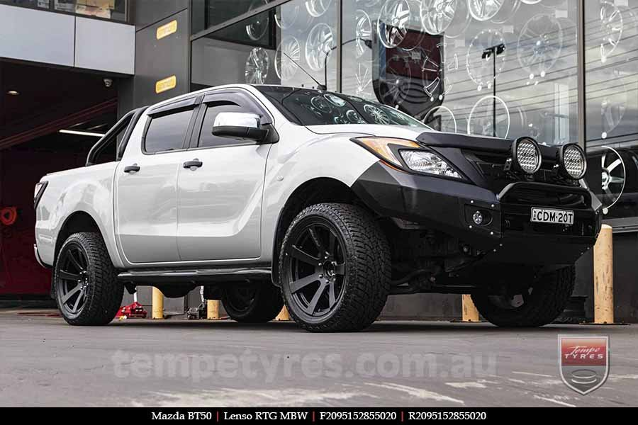20x9.5 Lenso RTG MBW on MAZDA BT50