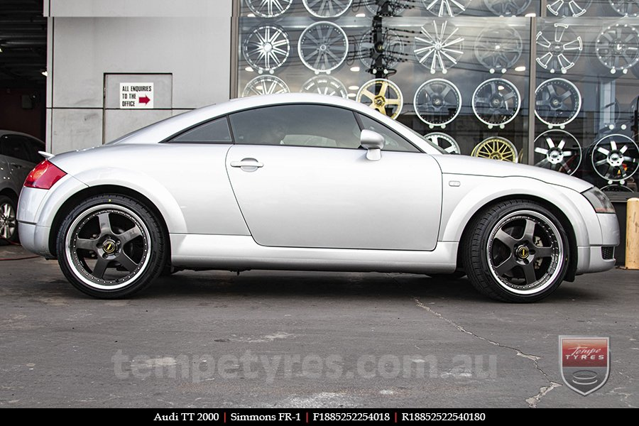 18x8.5 18x9.5 Simmons FR-1 Hyper Dark on AUDI TT