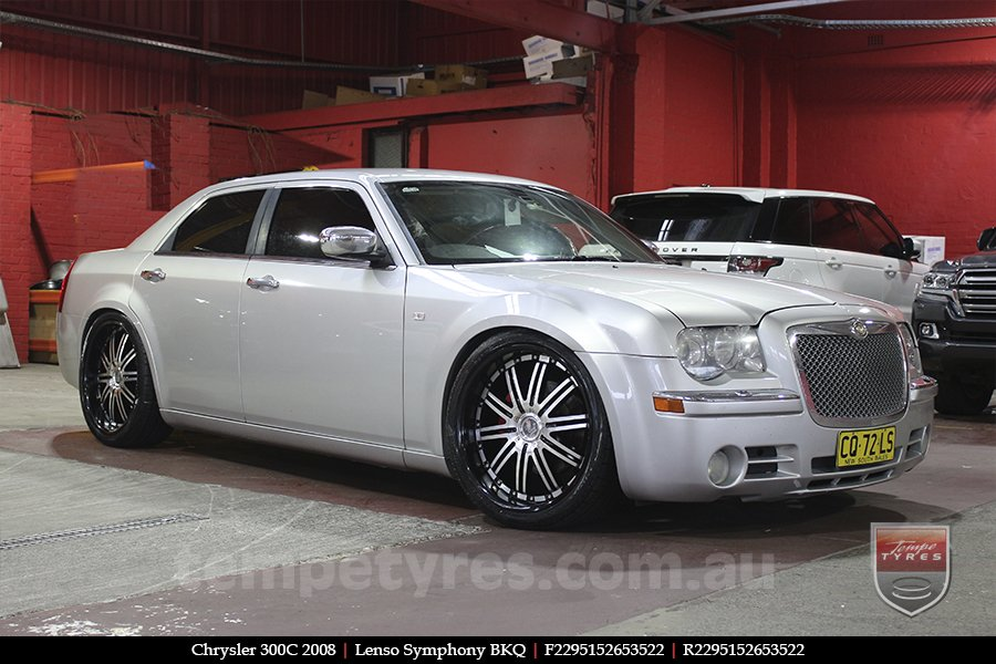 22x9.5 Lenso Symphony - BKQ on CHRYSLER 300C
