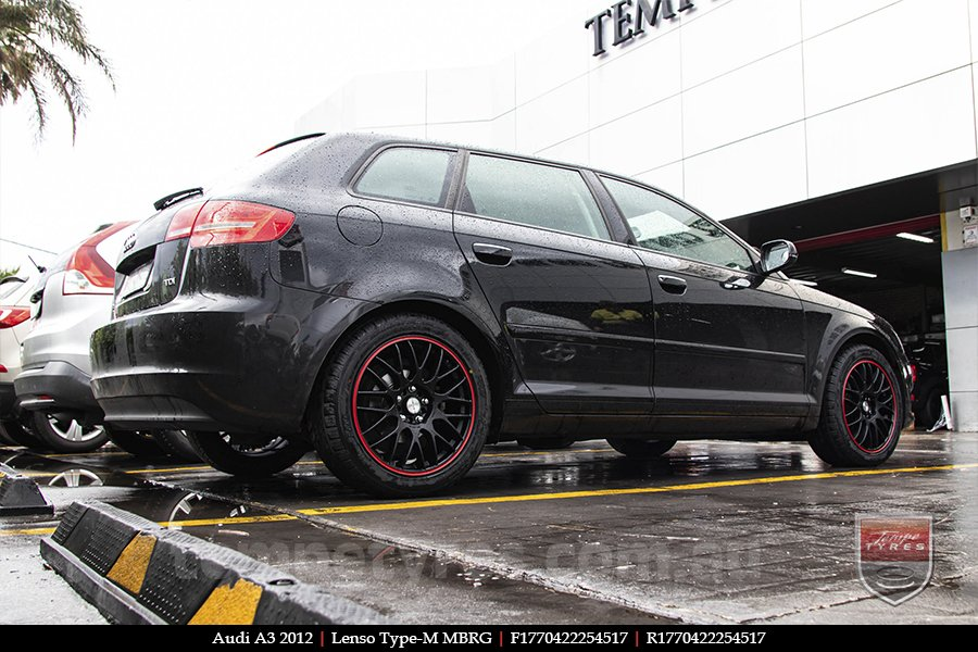 17x7.0 Lenso Type-M - MBRG on AUDI A3