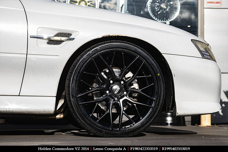 19x8.5 19x9.5 Lenso Conquista A CQA MK  on HOLDEN COMMODORE VZ