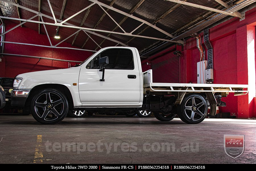 18x8.0 18x9.0 Simmons FR-CS Matte Black NCT on TOYOTA HILUX 2WD