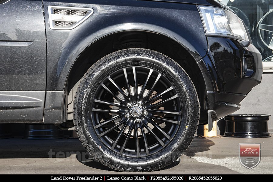 20x8.5 Lenso Como Black on LAND ROVER FREELANDER 2