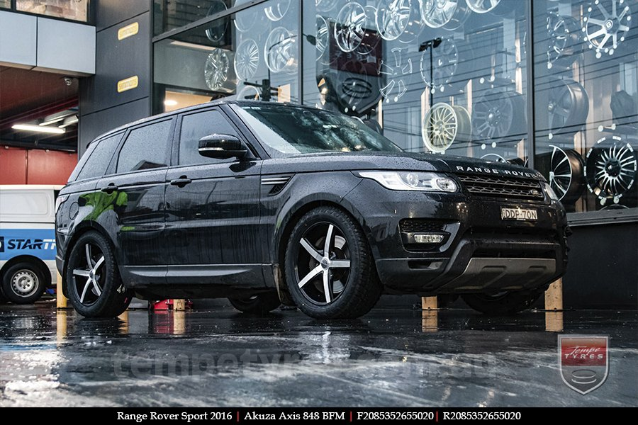 20x8.5 Akuza Axis 848 BFM on RANGE ROVER SPORT