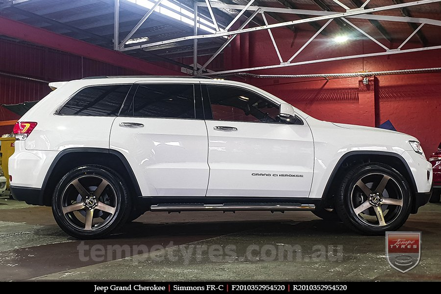 20x8.5 20x10 Simmons FR-C Copper Tint NCT on JEEP GRAND CHEROKEE