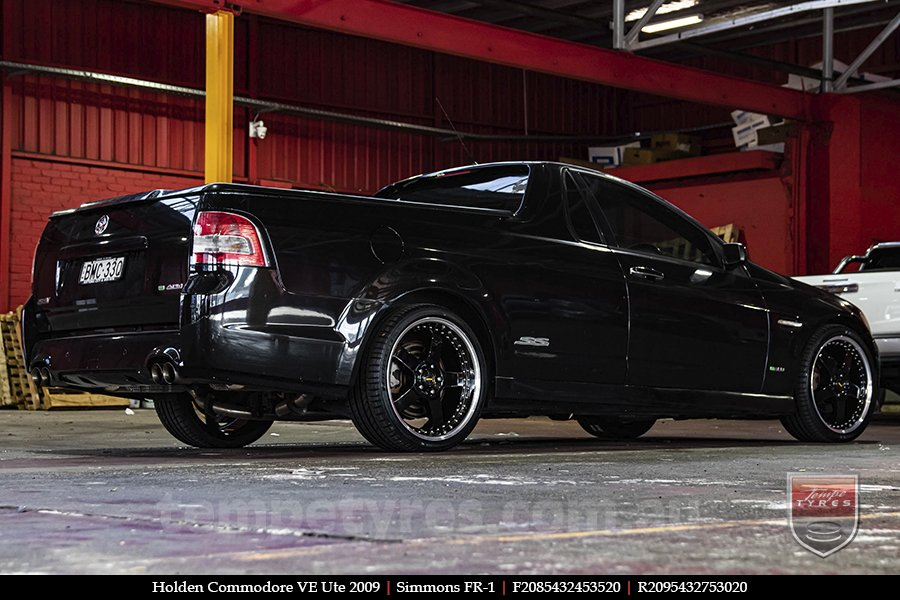 20x8.5 20x9.5 Simmons FR-1 Gloss Black on HOLDEN COMMODORE VE UTE