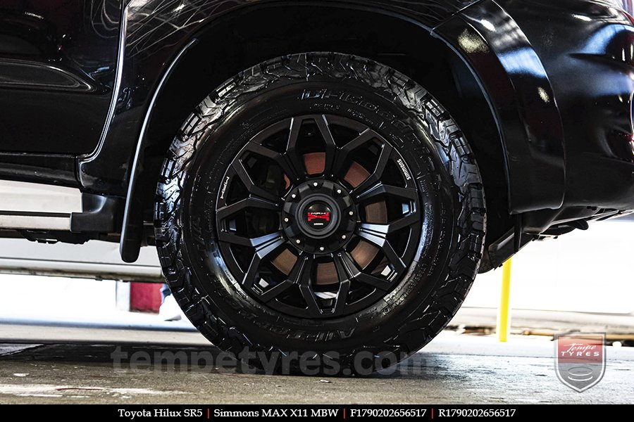 17x9.0 Simmons MAX X11 MBW on TOYOTA HILUX SR5