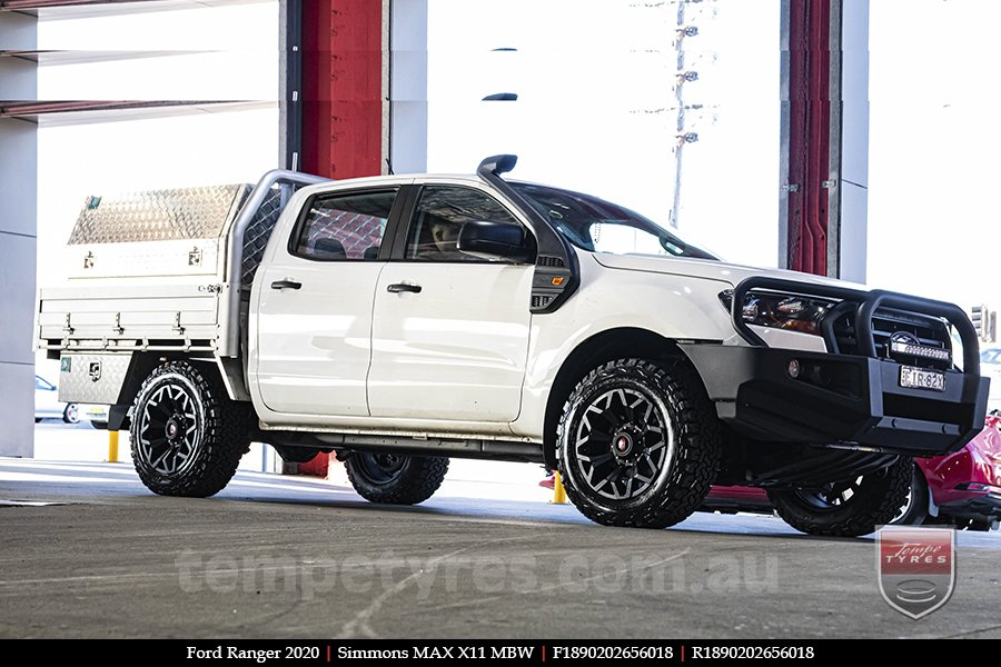 18x9.0 Simmons MAX X11 MBW on FORD RANGER