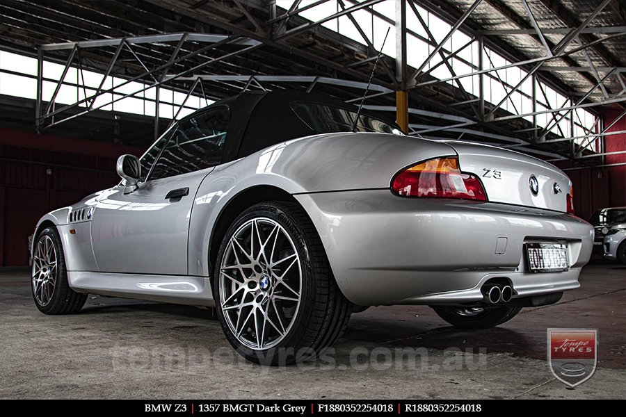 18x8.0 1357 BMGT Dark Grey on BMW Z3