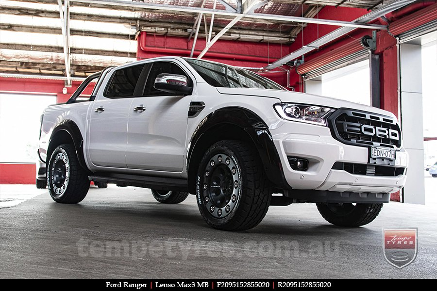20x9.5 Lenso Max3 MB on FORD RANGER