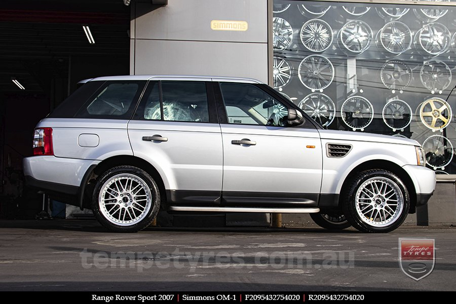20x8.5 20x9.5 Simmons OM-1 Silver on RANGE ROVER SPORT
