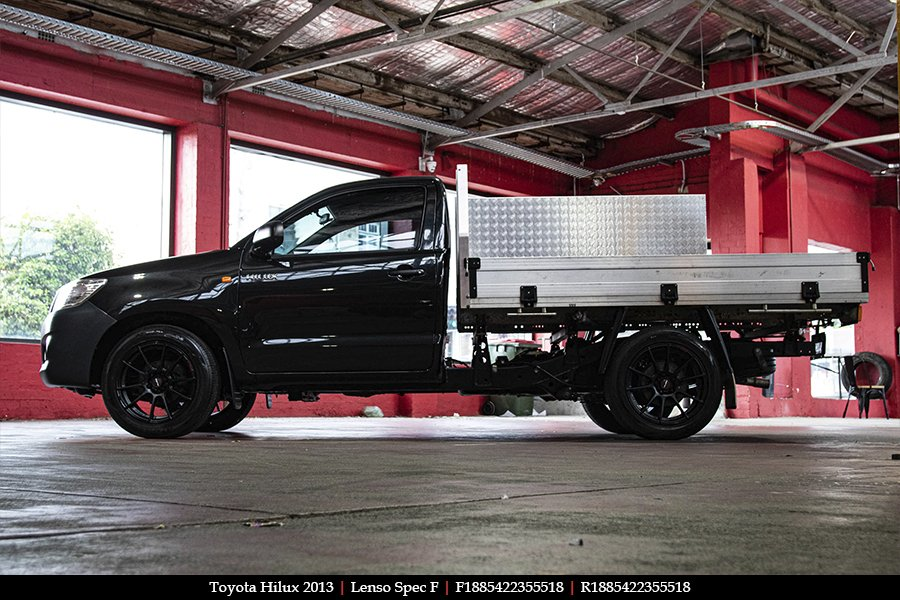 18x8.5 Lenso Spec F MB on TOYOTA HILUX
