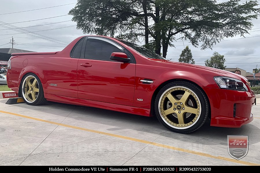 20x8.5 20x9.5 Simmons FR-1 Gold on HOLDEN COMMODORE VE UTE