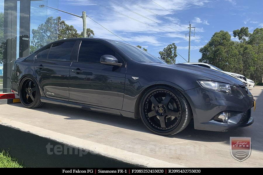 20x8.5 20x9.5 Simmons FR-1 Satin Black on FORD FALCON FG