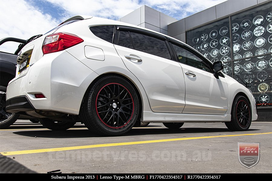 17x7.0 Lenso Type-M - MBRG on SUBARU IMPREZA
