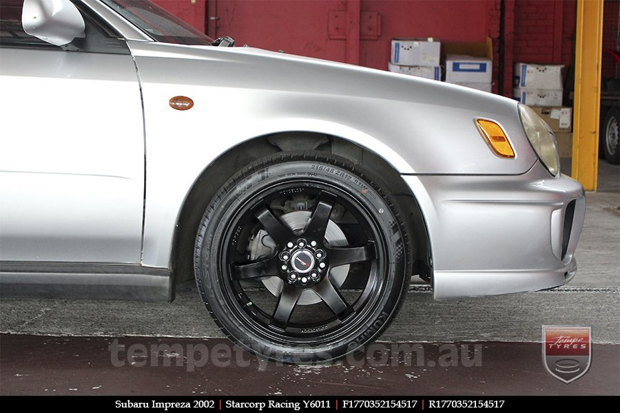 17x7.0 Starcorp Racing Y6011 on SUBARU IMPREZA