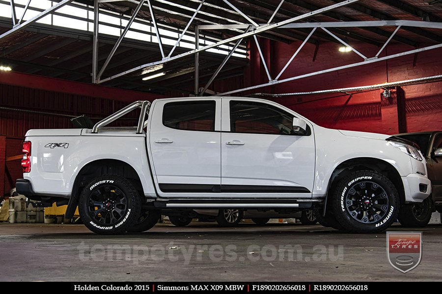 18x9.0 Simmons MAX X09 MBW on HOLDEN COLORADO
