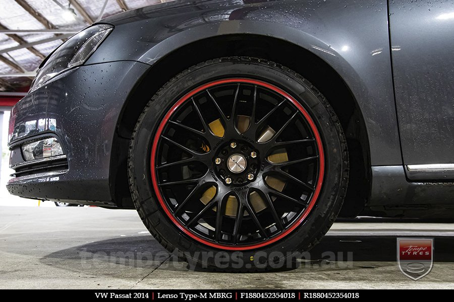 18x8.0 Lenso Type-M MBRG on VW PASSAT