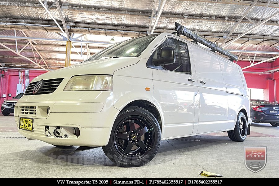 17x8.5 17x9.5 Simmons FR-1 Satin Black on VW TRANSPORTER