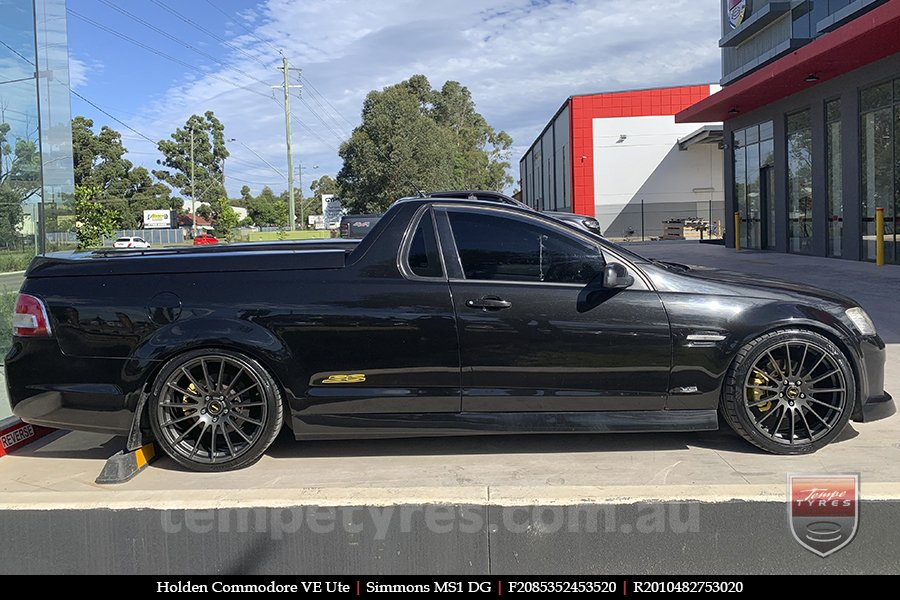 20x8.5 20x10 Simmons MS1 DG on HOLDEN COMMODORE VE UTE