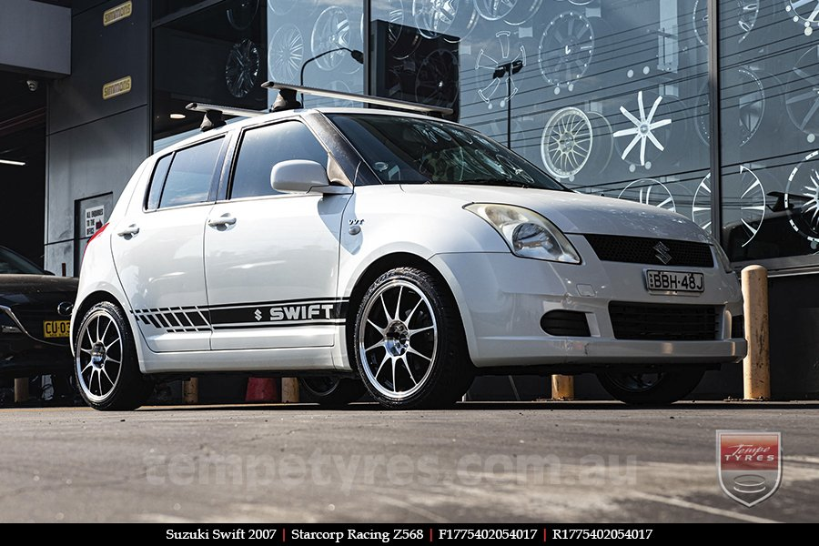 17x7.5 Starcorp Racing Z568 on SUZUKI SWIFT