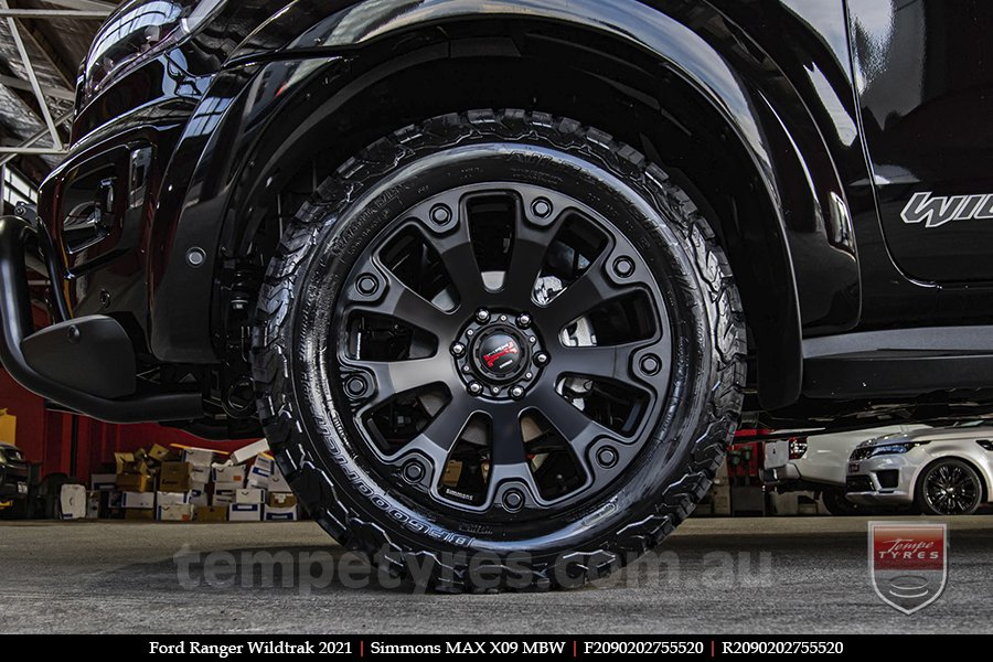 20x9.0 Simmons MAX X09 MBW on FORD RANGER WILDTRAK